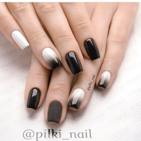 black-white-fall-ombre-nails