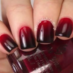 dark-red-ombre-nails-autumn