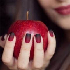 fall-nails-red-to-bordo-matte