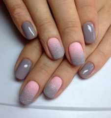 pink-n-gray-nails-with-ombre-autumn