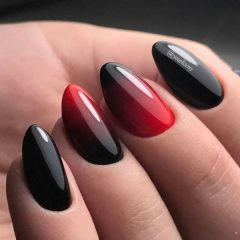 red-black-fall-ombre-nails