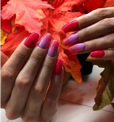squoval-fall-ombre-nails-pink-and-red