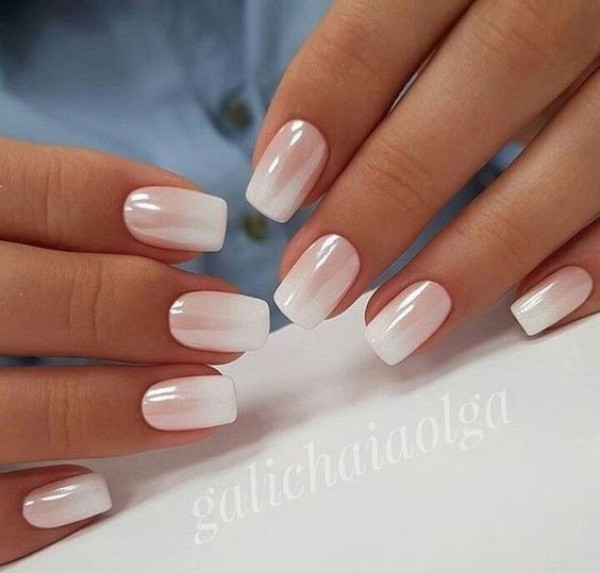 white-fall-ombre-wedding-nails