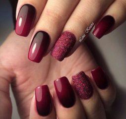 wine-bordo-ombre-fall-nails