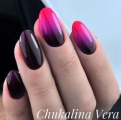 wine-purple-pink-fall-ombre-manicure