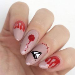 it nails with paper ship for halloween