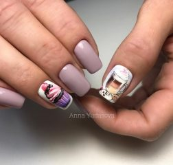 coffee-and-cupcake-nail-design