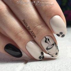 black-and-white-coffee-nail-art