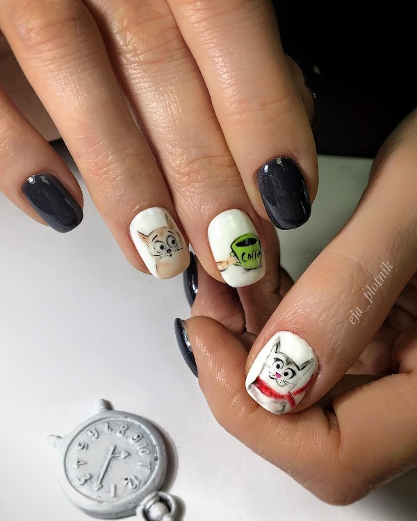 coffee-and-cats-nail-design