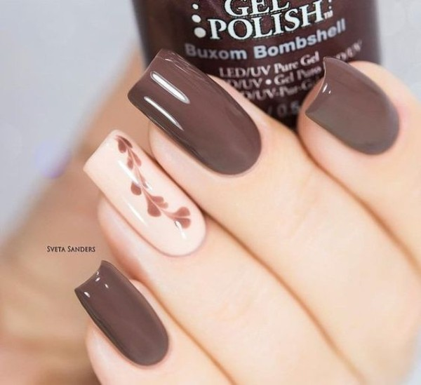 Coffee Colored Nails