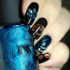 coffee-themed-nail-art-cat-eye-nail-polish