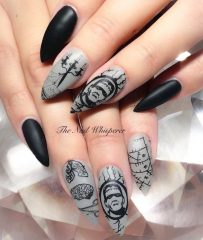 frankenstein-nails-for-halloween