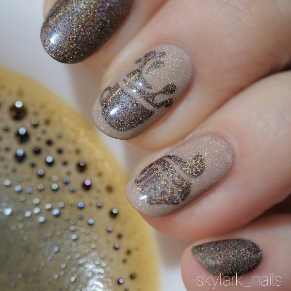 glitter-coffee-nails