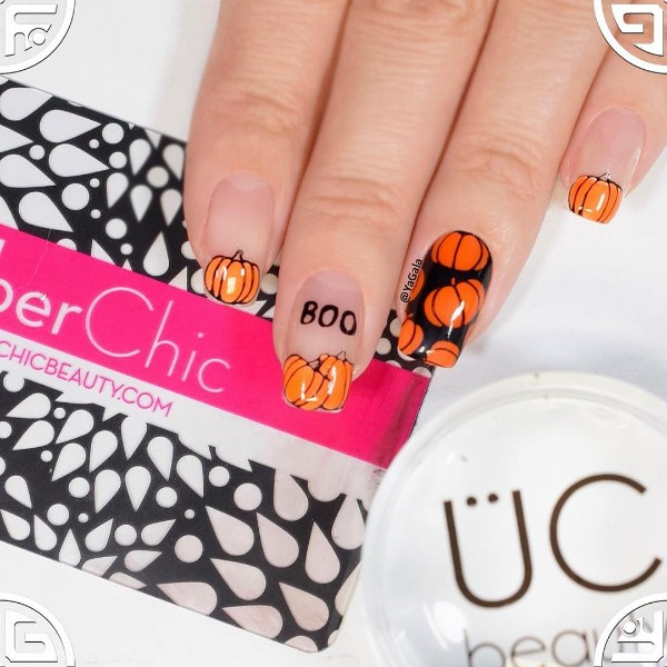 halloween-nail-design-with-pumpkins