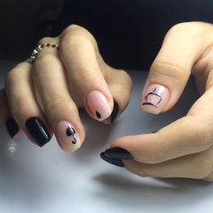 minimalistic-coffee-themed-nail-art