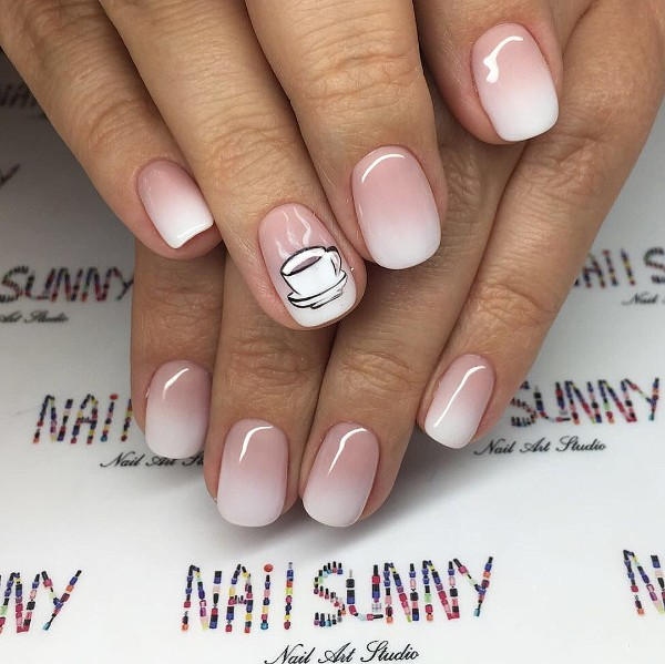 baby-boomer-nails-with-cup-of-coffee-design