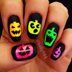 neon-pumpkins-on-nails
