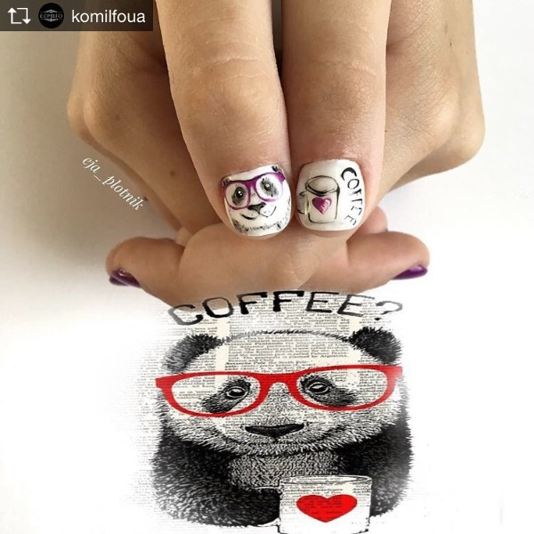 panda-with-coffee-nail-design