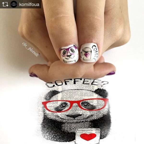 panda-with-coffee-nail-design