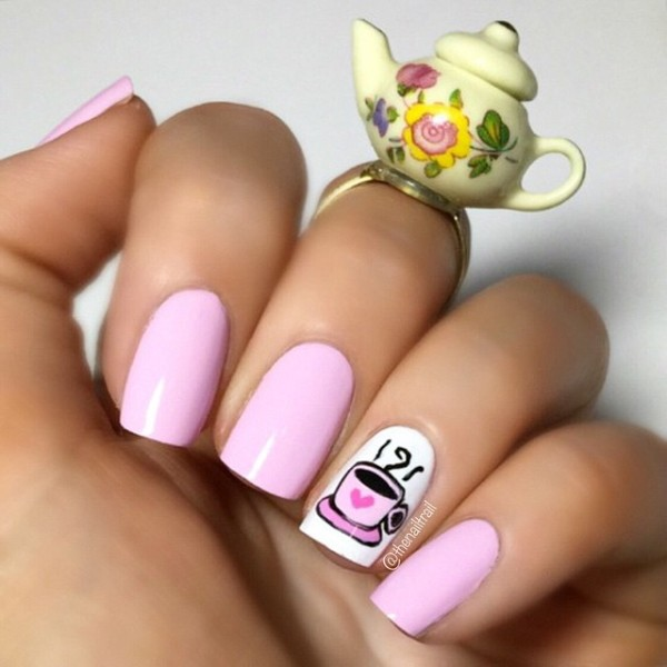 pastel-pink-coffee-themed-nails
