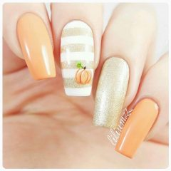 pastel-pumpkin-orange-nail-design-fall