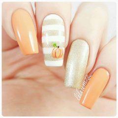 pastel-pumpkin-orange-nail-design-fall
