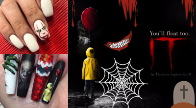 "Pennywise Nails for Halloween: Mani Ideas from Stephen King`s ""IT"" Movie"
