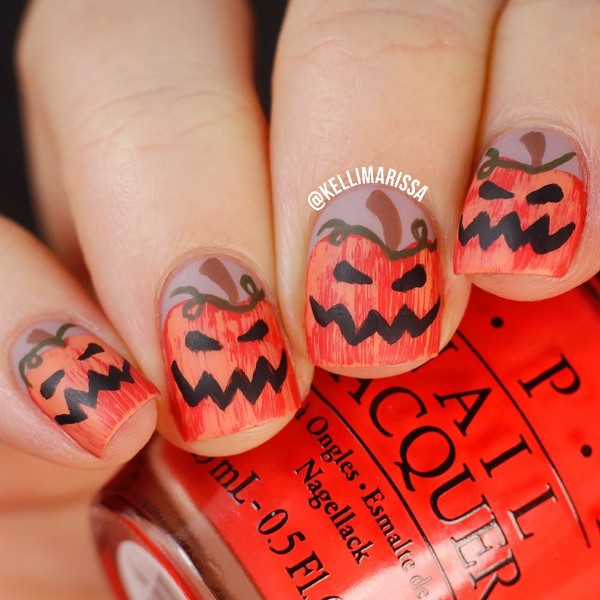 pumpkin-halloween-nails