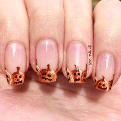 pumpkin-nail-art