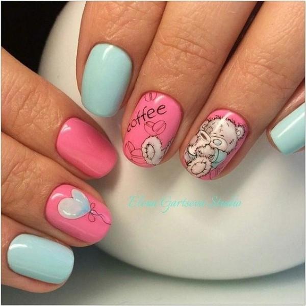 teddy-bear-coffee-nails