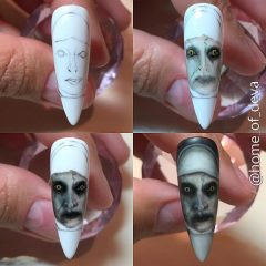 the-nun-halloween-nails