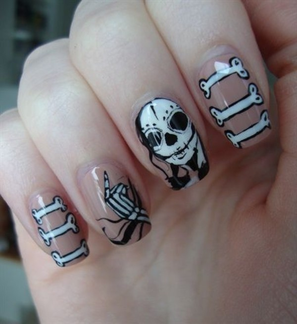 white-death-halloween-nail-design