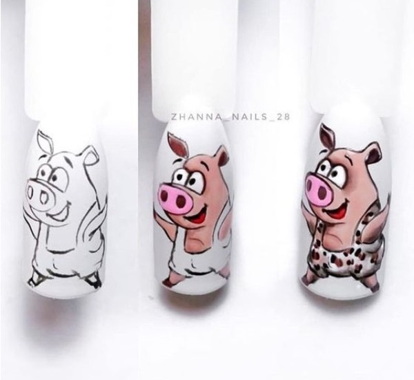 beautiful-pig-nail-art