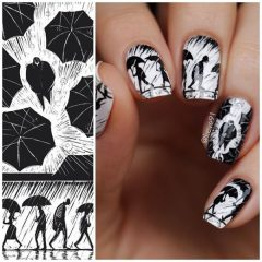 black-and-white-fall-nail-design