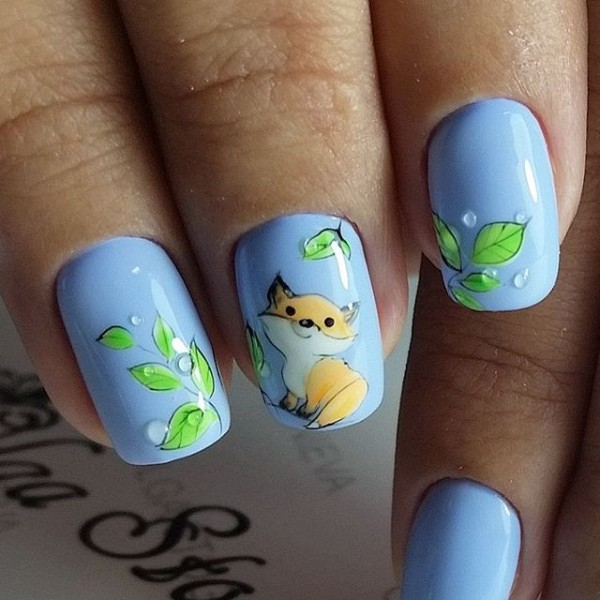 cute-fox-fall-nail-art
