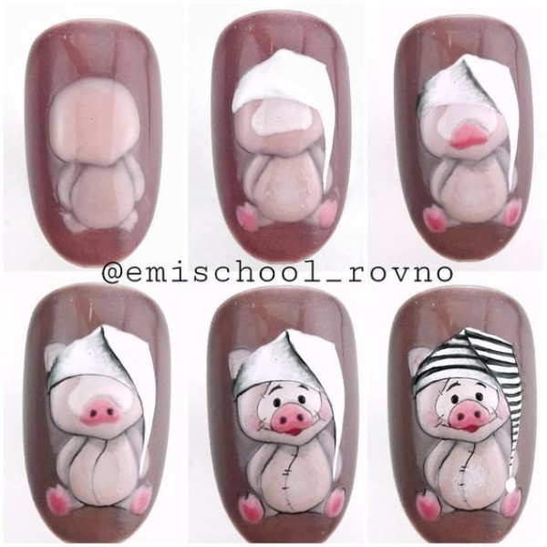 cute-pig-nails-tutorial