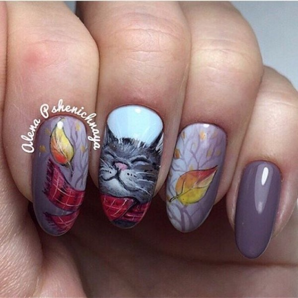 fall-cat-nail-design