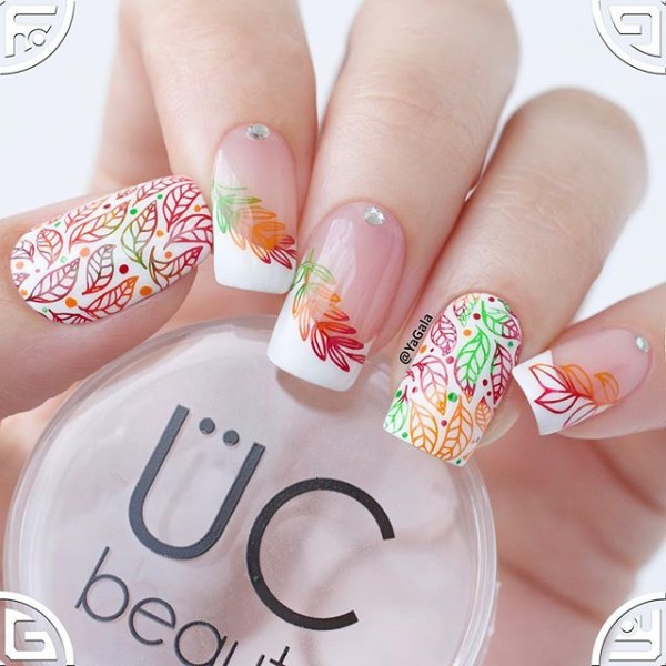 fall-french-nail-design