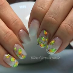 fall-nail-art-with-neon-leaves