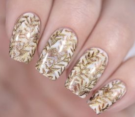 fall-stamping-nail-art-with-golden-leaves