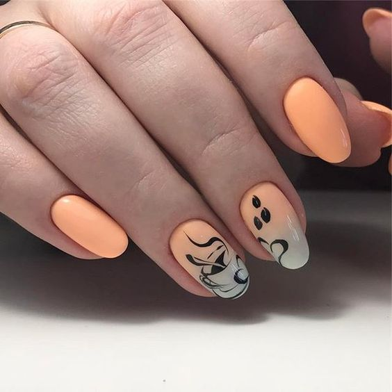 ombre-coffee-nail-design
