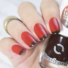 orange-fall-nails-with-brown-french-tips