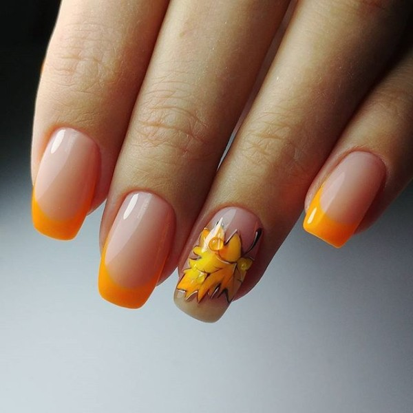orange-french-fall-nails