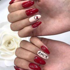 amor wine nails