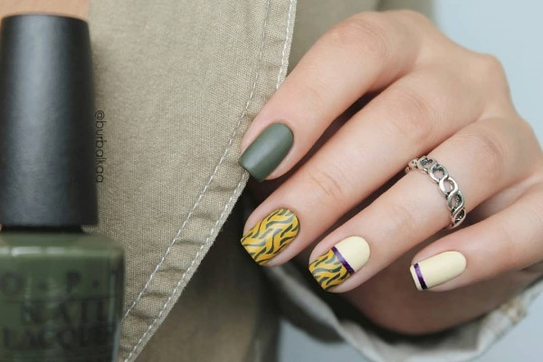 white-and-green-fall-nails