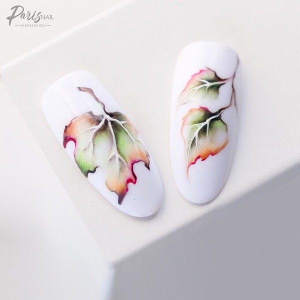 white-fall-nail-design-with-leaves