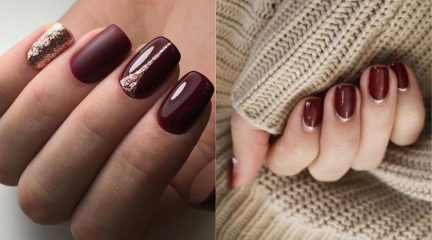 70 Best Ideas of Burgundy Nails for 2021