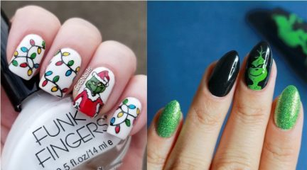 Grinch Nails for Christmas 2018