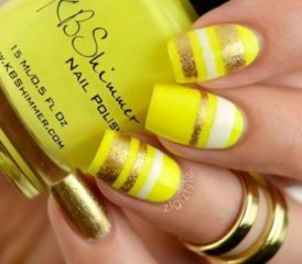 gold and yellow nails