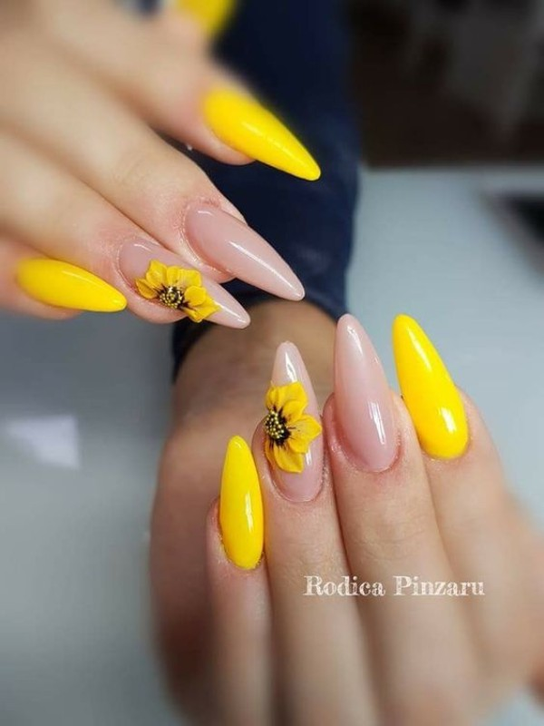Best and Newest Yellow Nail Designs (2019)